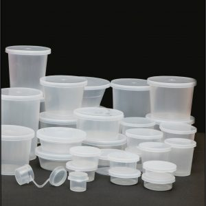 Standard Tubs with clip on lids